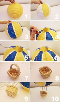 How to make our hot air balloon lanterns!