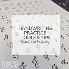 Handwriting practice tools and tips!