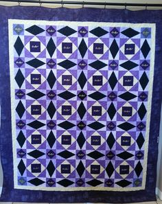"Crown Royal Quilt it's name is ""Drunken Tsunami"" by La'Glenn Designs.  Storm at Sea pattern. Like me on Facebook!!"