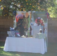 My daughters Bridal Shower Jan 2012 - Kentucky Derby Theme - the gift table