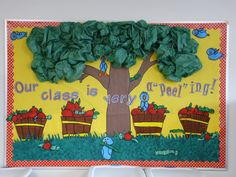 Beautiful Cork Board Ideas That Will Change The Way You See Cork Board. See more ideas about Study room decor, Cork bulletin boards and Room wall decor, Office boards. Apple Bulletin Boards, September Bulletin Boards, Seasonal Bulletin Boards, Bulletin Board Tree, Kindergarten Bulletin Boards, Summer Bulletin Boards, Back To School Bulletin Boards, Classroom Bulletin Boards, Classroom Ideas