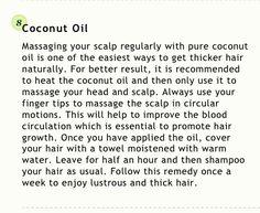 Coconut oil - thicker hair!