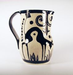 Oh So Elegant PITCHER Handmade Black & White by TheClayBungalow, $95.00