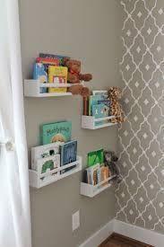 Rain Gutter Shelves nursery book corner Lucy's Room