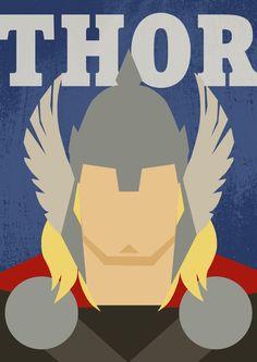 Poster Thor / Thor / Superhero Thor / Comics Poster / Minimalist Thor / Art Thor / Thor Print / Thor Gift / Thor Home Decor Poster Avengers, Batman Poster, Superhero Poster, Comic Poster, Marvel Avengers, Marvel Comics, Poster Marvel, Anime Comics, Thor Wallpaper