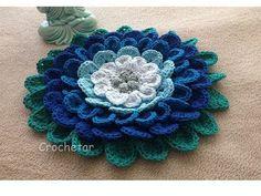 Crochet Basket Pattern, Crochet Flower Patterns, Crochet Designs, Crochet Flowers, Embroidery Patterns, Love Crochet, Irish Crochet, Vintage Crochet, Woolen Flower