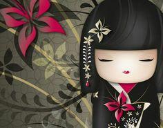 kimmidoll wallpaper Nana My favourite Momiji Doll, Kokeshi Dolls, Japanese Quilts, Japanese Fabric, Japanese Doll, Illustrations, Illustration Art, Kokeshi Tattoo, Decoupage