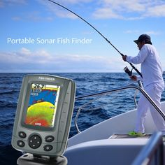 Portable 3.5 LCD Fish Finder Outdoor Fishing Sonar Sensor Fishing Finder Alarm Fish Detector Depth Locator