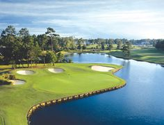 Just over the border in North Carolina is the Rees Jones Golf Course at Sea Trail Golf Resort. The course offers a straightforward layout surrounded by sparkling lakes and trees.