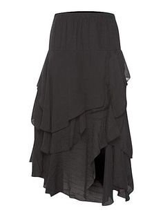 Maxi Skirt With Ruffled Tiers <3