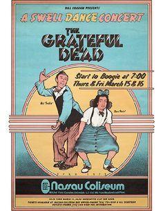 Nassau Coliseum, Grateful Dead Poster, Bill Graham, Vintage Concert Posters, Band Posters, Dance, Liver Disease, Lineup