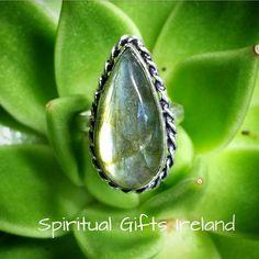 Labradorite Aurora Ring Visit our store at www.spiritualgiftsireland.com  Follow Spiritual Gifts Ireland on www.facebook.com/spiritualgiftsireland www.instagram.com/spiritualgiftsireland www.etsy.com/shop/spiritualgiftireland