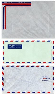 Airmail (i).  I always wanted to get these types of envelope