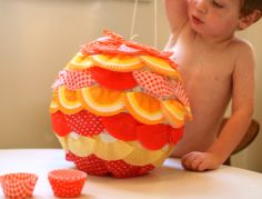 This is actually a pinata but I think it would make a cute decorated paper #lantern for a #party