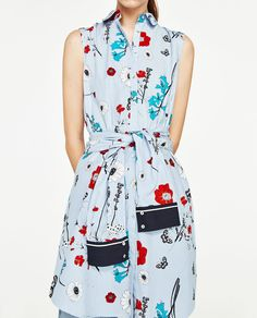 STRIPES AND FLOWERS DRESS-NEW IN-WOMAN   ZARA United States