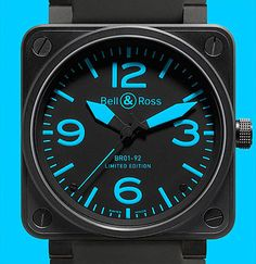 Bell & Ross Rolls Out a Fancy Black Steel Watch with the Blues