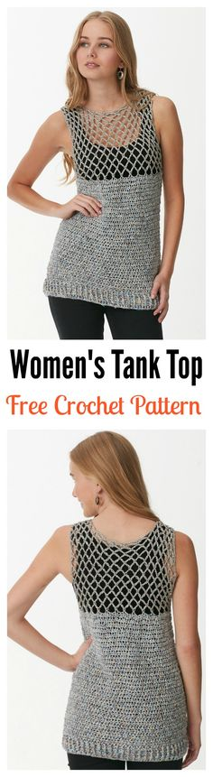 Free Easy Women's Tank Top Crochet Pattern