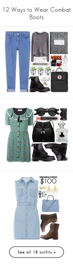 """12 Ways to Wear Combat Boots"" by polyvore-editorial ❤ liked on Polyvore featuring combatboots, waystowear, T By Alexander Wang, Dr. Martens, CO, Fjällräven, Kate Spade, Michael Kors, BackToSchool and AlexanderWang"