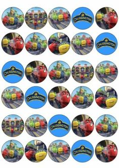 Chuggington Edible Cupcake Toppers Chuggington Printables