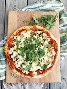 Zucchini Chicken Ricotta Pizza | Havocinthekitchen.com
