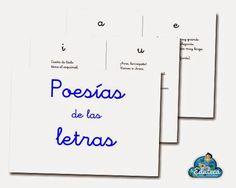 La Eduteca: RECURSOS INFANTIL | Poesías de las letras Bilingual Education, Kids Education, Poetry Center, Writing Art, Dual Language, Teaching Spanish, First Grade, Bar Chart, Knowledge