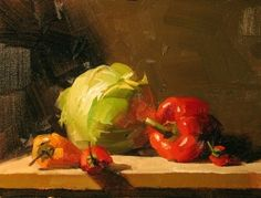 Veggie Time, painting by artist Qiang Huang