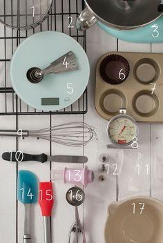 utensilios básicos para hacer cupcakes