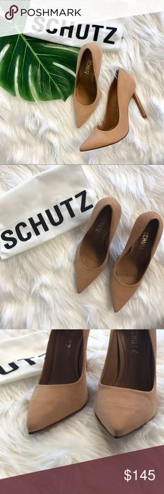 SCHUTZ Gilbert's heel in sunkiss Never worn - half a size too big for me SCHUTZ Shoes Heels