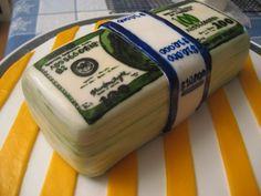 Hand painted money cake.