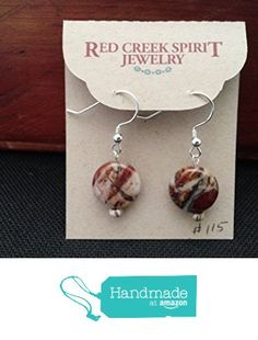 Red Creek Jasper Earrings from Red Creek Spirit Jewelry http://www.amazon.com/dp/B016B2LZ0O/ref=hnd_sw_r_pi_dp_KyBgwb0BZG15C #handmadeatamazon