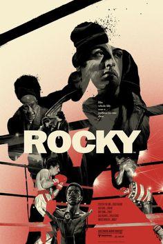As ilustrações de cartazes de filmes de Grzegorz Domaradzki - Rocky (Rocky: Um Lutador)