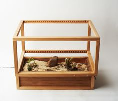 This terrarium explores the arid regions of the world, which contains various succulents and minerals, and establishes new relationships between them.