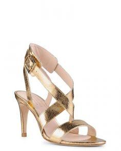 Sandales cuir doré à lanières Minelli - ClicknDress