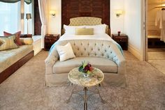 The St. Regis Singapore is the perfect destination for discerning connoisseurs, with a convenient location in downtown Singapore and amenities that epitomize luxury. The St, Singapore, Rooms, Interiors, Luxury, Business, Bed, Places, Furniture