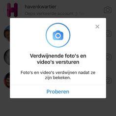 Nieuwe functionaliteit op Instagram! Verdwijnende foto's en video's versturen in privé conversaties met vrienden & volgers. Swipe naar links om naar de DM omgeving van Instagram te gaan.