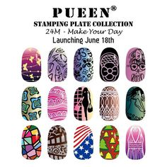 """Some more looks from our next release, 24M - Make Your Day #PressPlay #pueencosmetics #nail #nails #nailart #nailwrap #nailstamp #naildesign #nailpolish #nailstagram #naillacquer #newrelease #stamping #polish #nailcolor #diy #diynails"" Photo taken by @pueencosmetics on Instagram, pinned via the InstaPin iOS App! http://www.instapinapp.com (06/13/2015)"