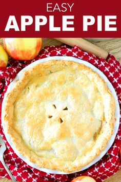 Apple pie is all about that scrumptious cinnamon apple filling and a flaky, buttery crust! This is everything you need to know about whipping up a decadent, gooey apple pie filling, and how to homemade pie crust in less than 10 minutes for the best Thanksgiving dessert ever! #applepie #pierecipes #applerecipes #thanksgiving #holidayrecipes #easyapplepie #easypierecipes