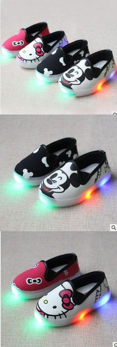 2016 lovely lighted fashion casual baby sneakers new brand new breathable kids shoes cute little girls boys baby shoes $41.6
