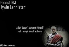 Fictional INTJ - Tywin Lannister