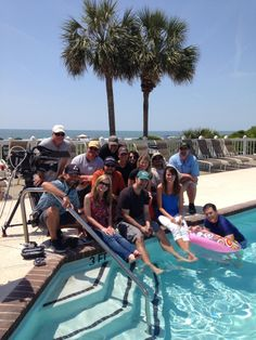 """That's a wrap! The Travel Channel """"Gear Guide"""" series filming was a success. Stay tuned for the final episodes mid-June. Thank you to our guests for being such great sports while we filmed beach and pool side."""