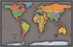 Wall Map of the World by OutlookMaps from Maps.com. If you need an atlas, map or globe Maps.com can help. We are the World's Largest Map Store!