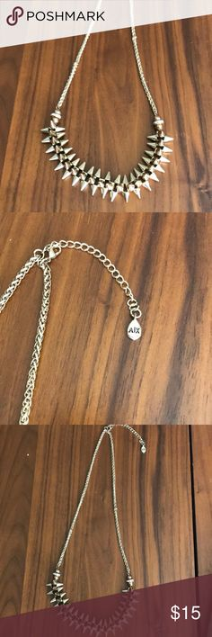 Armani Exchange Gold Spike Fashion Necklace Gently used AX spike necklace. Cleaned and ready for new home. A/X Armani Exchange Jewelry Necklaces