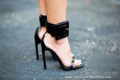Haute & Rebellious #fashionblogger in #gucci #heels via #Fashion Cognoscente