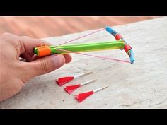 How to Make a Powerful Mini Crossbow from Paper with Trigger - YouTube