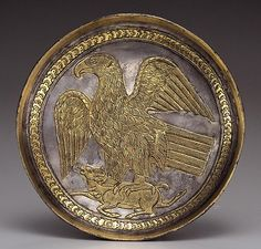 Sassanian Silver Gilt Plate Dating To 600-700 AD.  Miho Museum,Japan