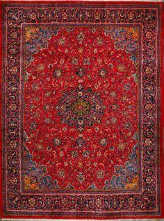 """Sarough Persian Rug, Buy Handmade Sarough Persian Rug 9' 8"""" x 13' 3"""", Authentic Persian Rug"""