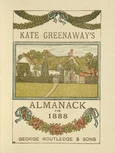 Kate Greenaway's Almanack for 1888