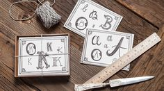 http://9th-letter-press.myshopify.com/products/Initial-notecard-a