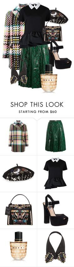 """""""Arty eccentric fall 2015"""" by courtneydemuir ❤ liked on Polyvore featuring Marni, Miu Miu, Marc by Marc Jacobs, N°21, Valentino and Steve Madden"""