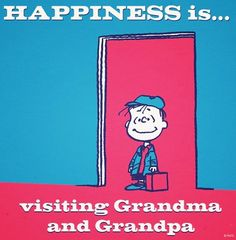Happiness is visiting grandparent